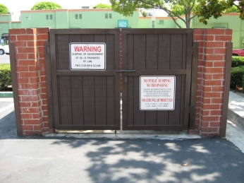 Cdc Fabricates And Installs Commercial Dumpster Gate