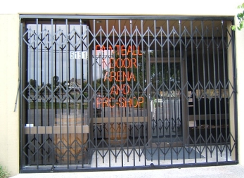 CDC installs commercial grade scissor gates for storefronts