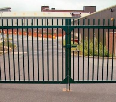 Swinging metal security gate