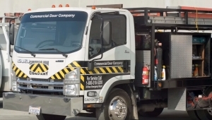 trucks used to repair and install commercial doors